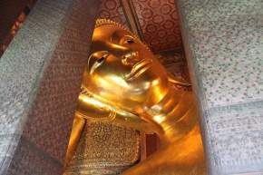 The Face of The World's Largest Reclining Buddha
