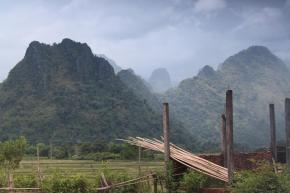 Karst Mountains at The Background