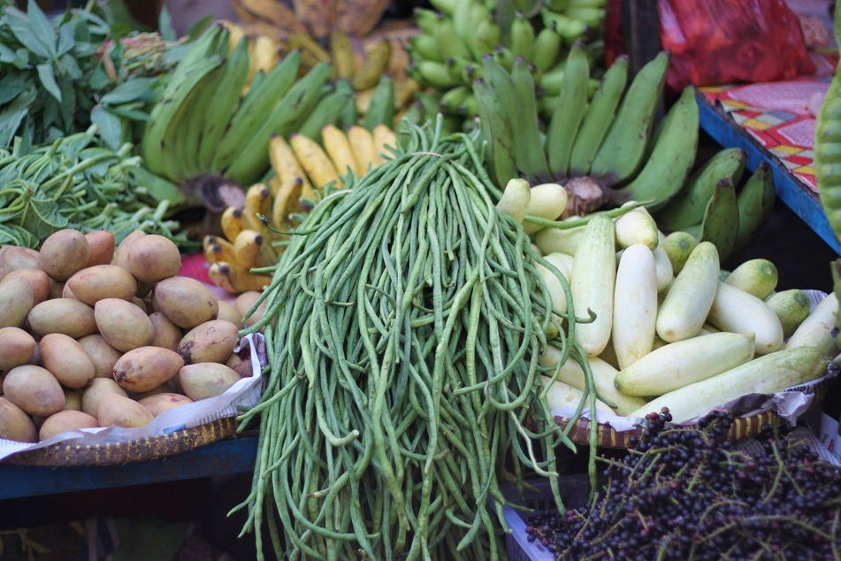 Long Bean, Cucumber and Tamarillo