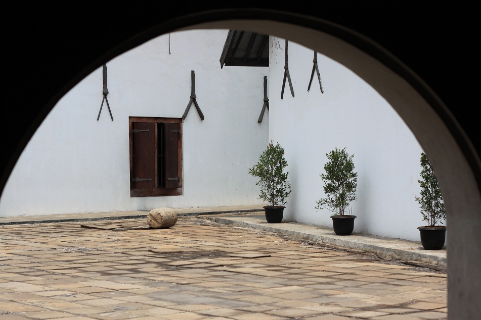Peeking Into A Courtyard