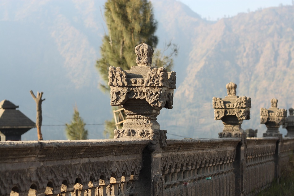 Ornaments at a Hindu Temple in Cemoro Lawang