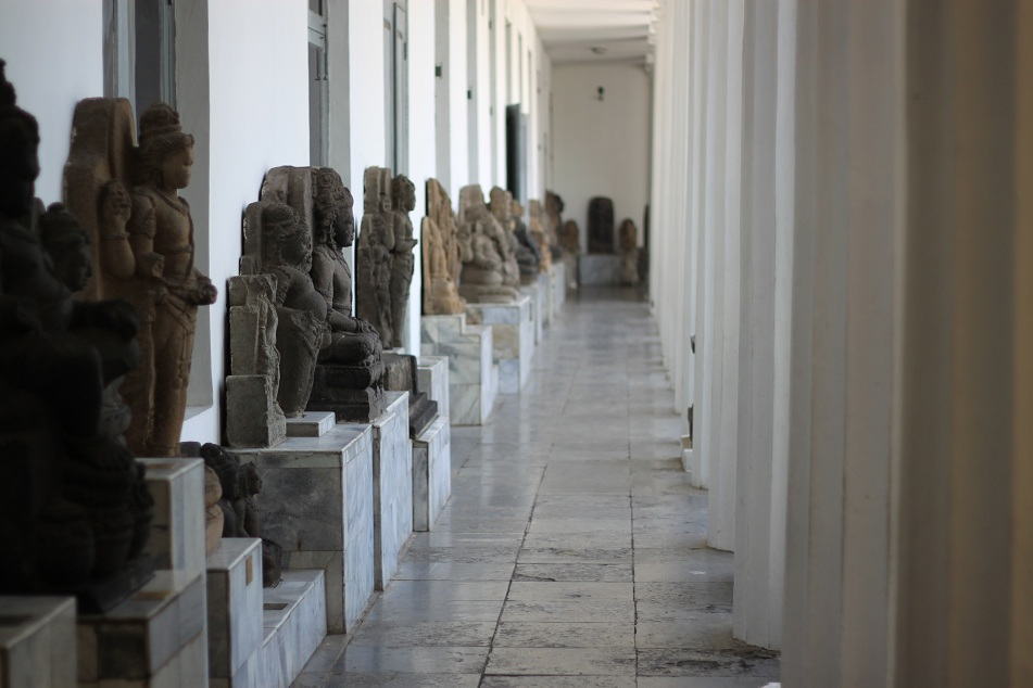 Statues at the Corridor of the Old Wing