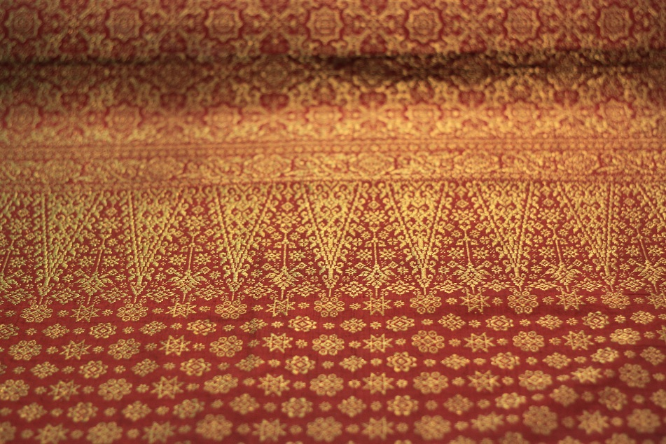 Silk Songket Shawl with Golden Thread – South Sumatra