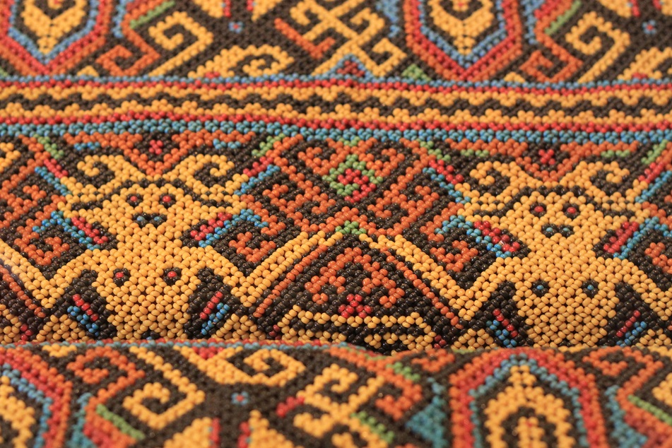 Dayak Cloth Made of Beads – Kalimantan (Borneo)