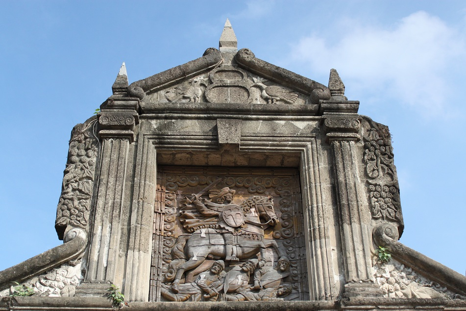 Carvings on the Gate to Fort Santiago