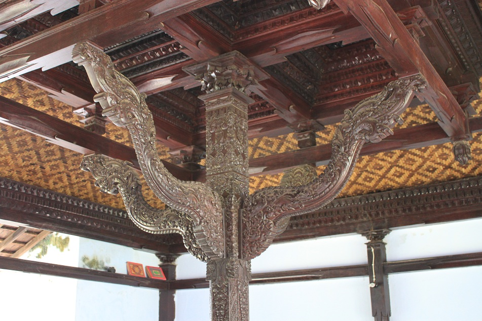 Ornate Wooden Pillar of the Praying Area