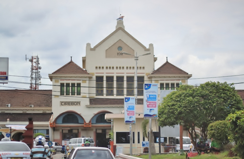 The Façade of Cirebon Train Station