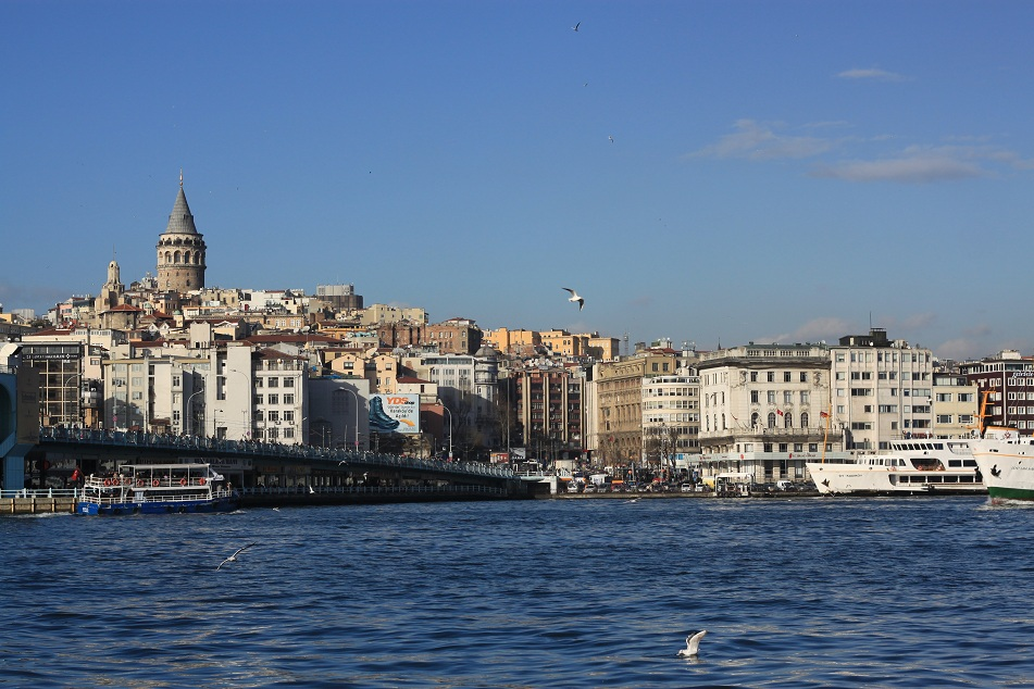 Beyoğlu District with Galata Tower Dominating the Skyline