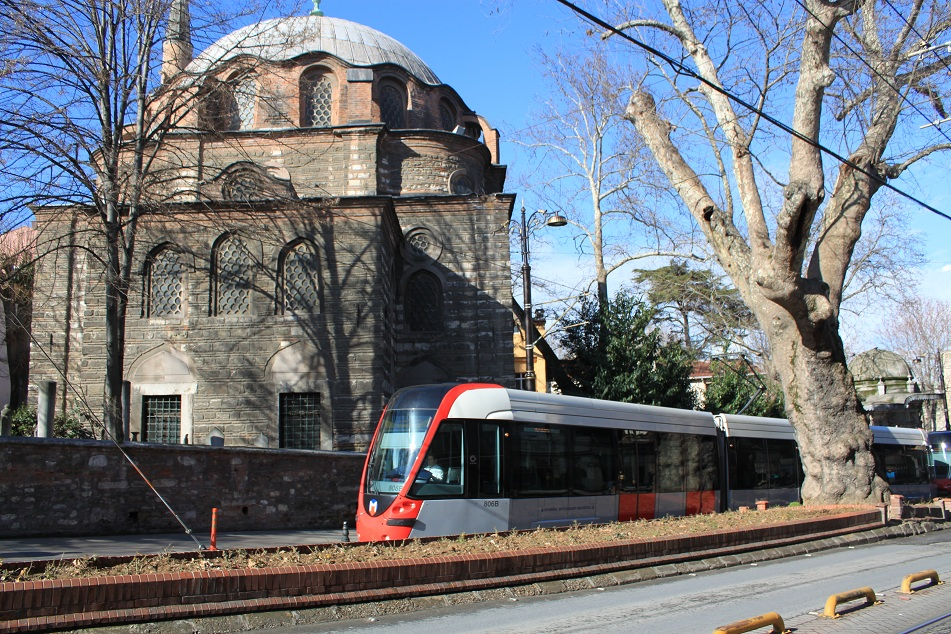 Istanbul Tram at Gülhane