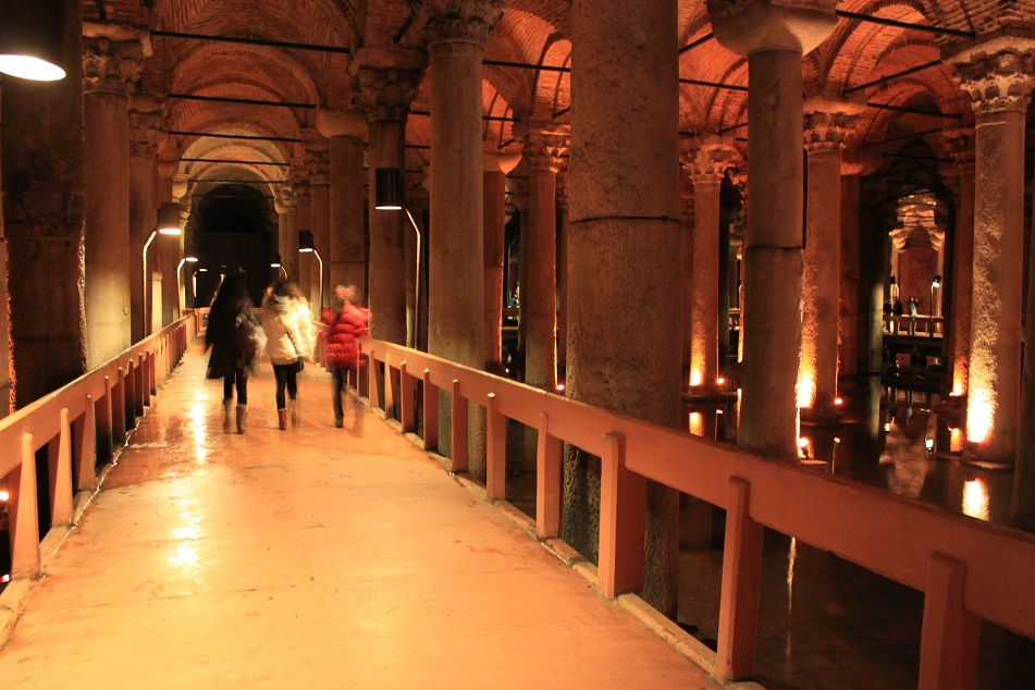 The Walkway Inside the Cistern