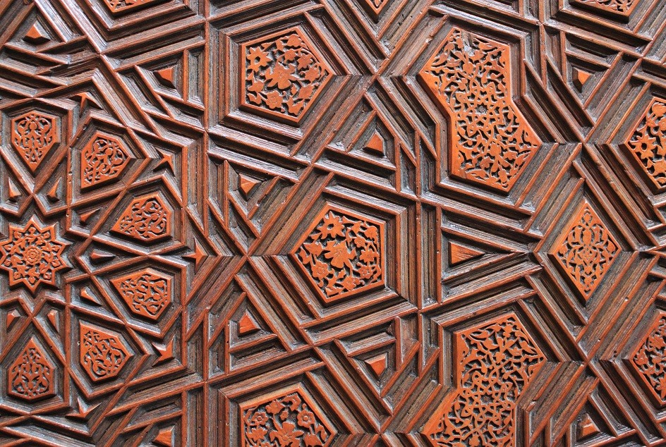 Wood Carving on a Door