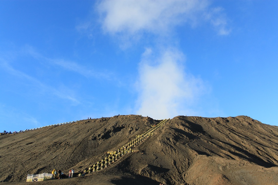 Mount Bromo with the Newly Renovated Staircase