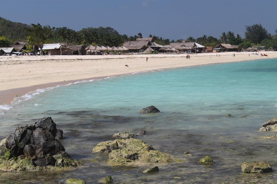 The Modest Accommodation and Stalls at Kuta Lombok