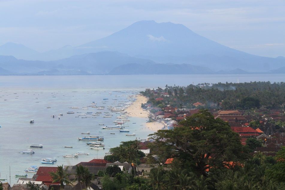 Mount Agung as seen from Jungut Batu