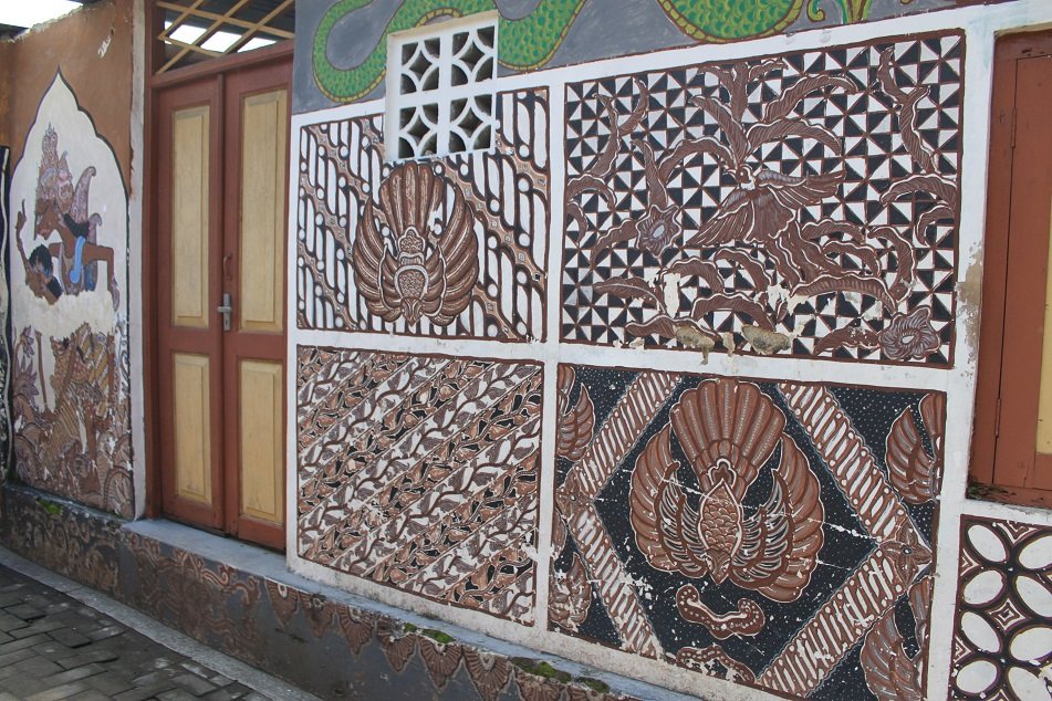 A Batik-Painted Wall