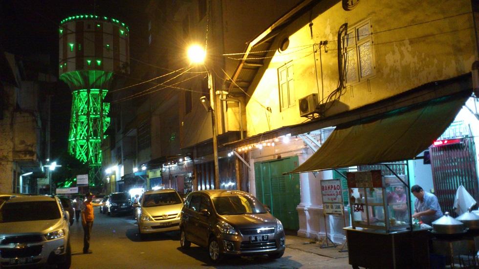 Tirtanadi Water Tower Viewed from Jalan Selat Panjang