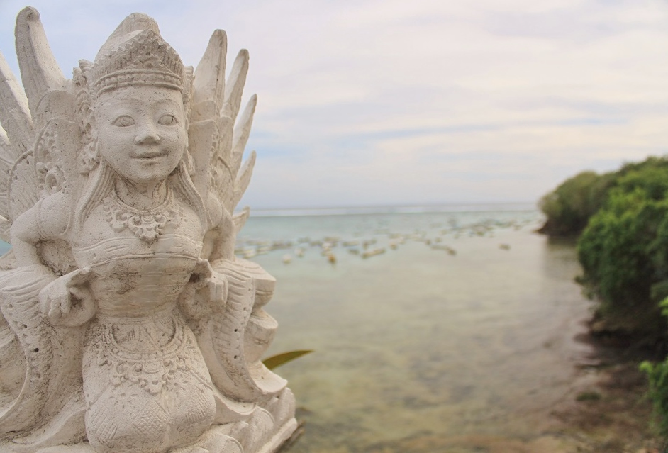 A Decorative Statue on a Promenade, Nusa Lembongan, Bali