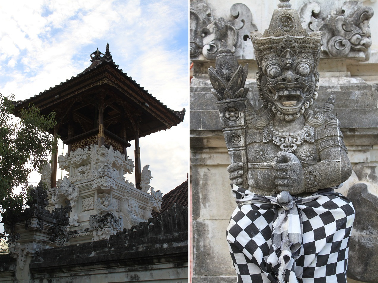 Statues of A Temple on A Hill, Nusa Lembongan