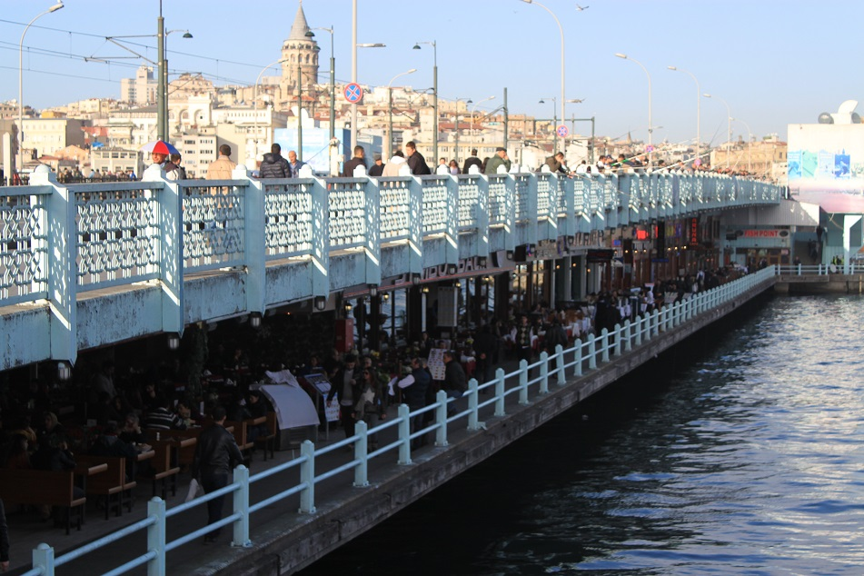 Throngs of Seafood Restaurants under Galata Bridge with Some of the Most Persistent Staff Ever