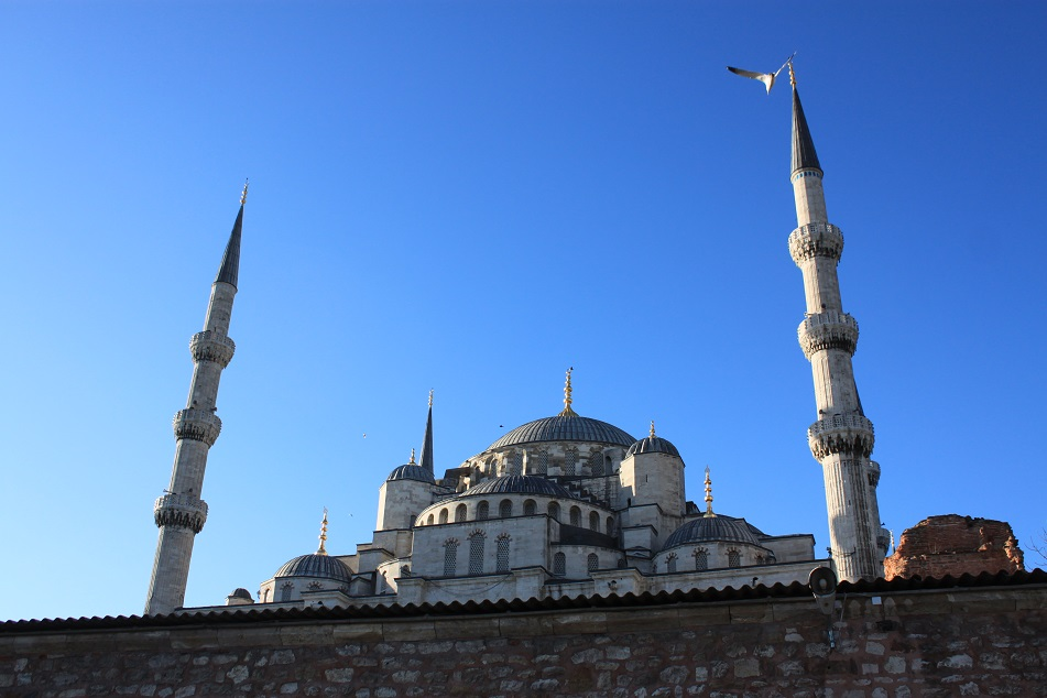 The Blue Mosque, Taken from the Back Alleys