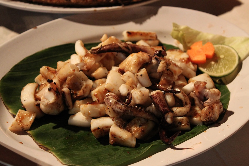 Grilled Squid, Melasti Kedonganan, Jimbaran