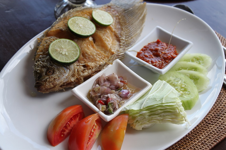 Fried Fish, Bebek Joni, Ubud