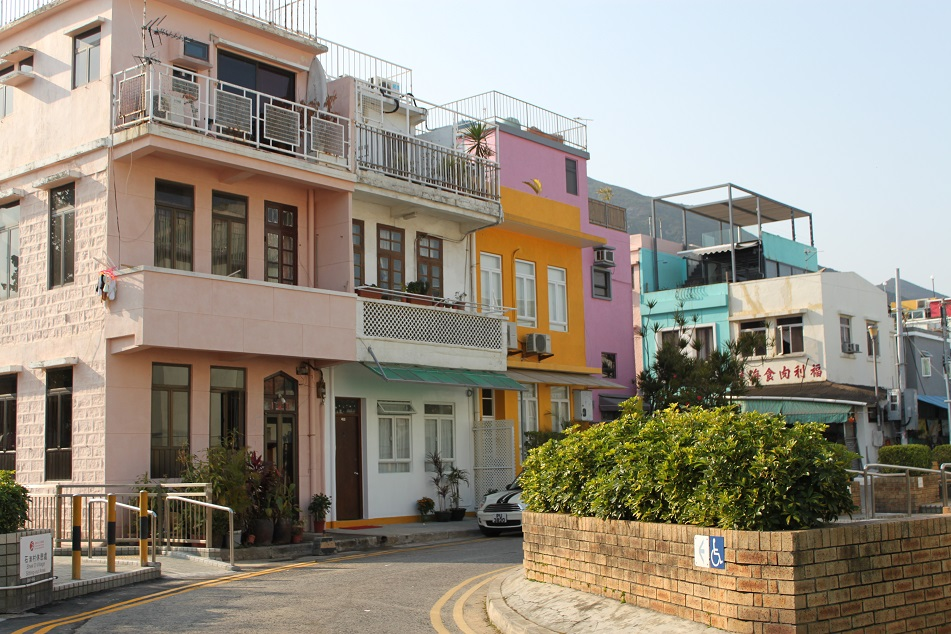 Pastel-colored Houses in Shek O