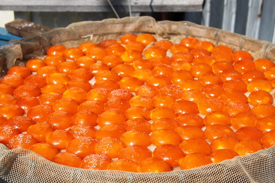 Duck Egg Yolks Drying under the Sun