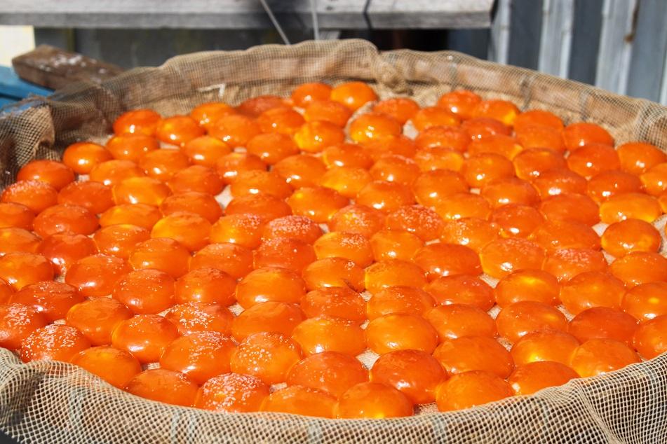 Duck Egg Yolks Drying under the Sun