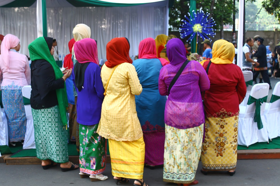 Muslim Women in Colorful Garments