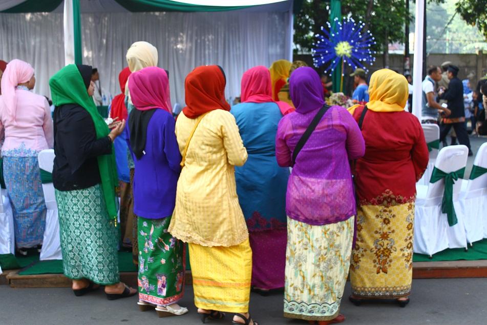 Muslim Women in Colorful Garments