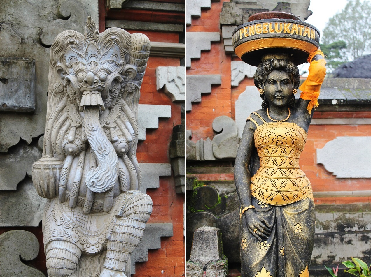 Decorative Statues at the Temple Grounds