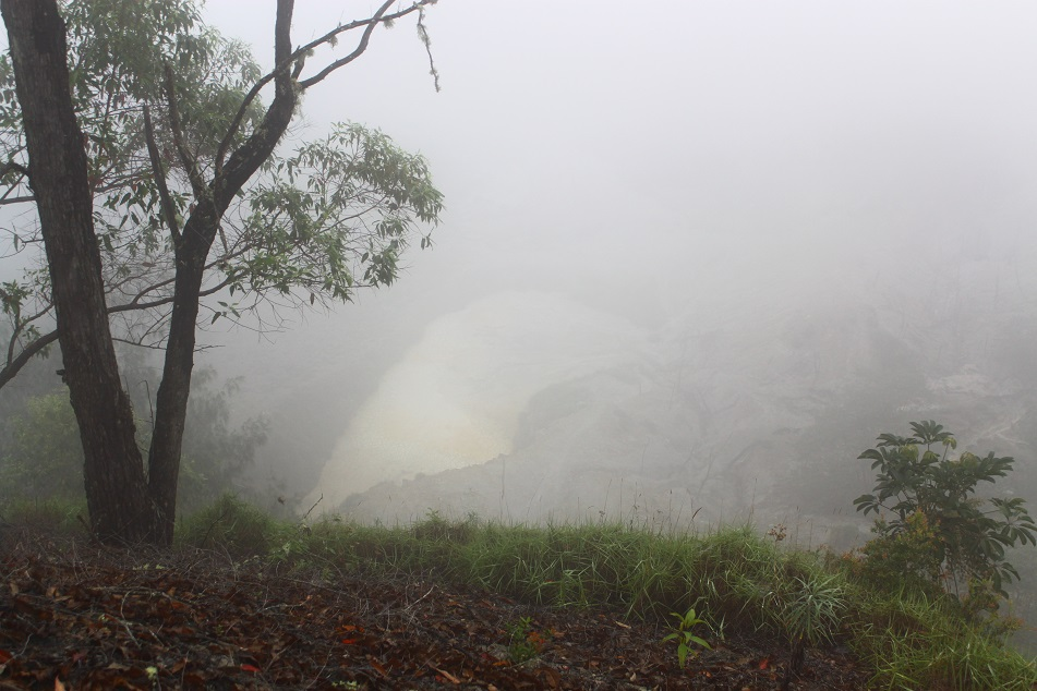 Mist-Covered Crater of Mount Wawomudha