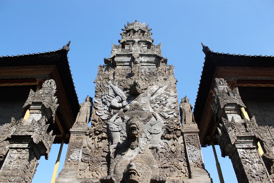 A Tower Adorned by Characters from Hindu Mythologies
