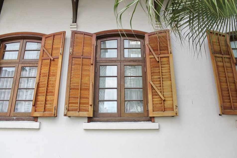 Wooden Shutters at Hullet House