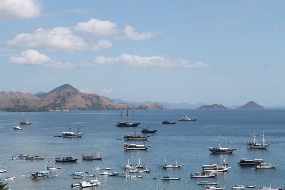 Boats in Different Sizes around Labuan Bajo