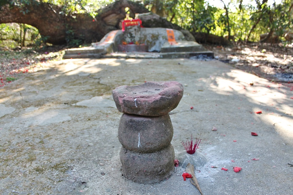 Ceremonial Stones before A Small Altar