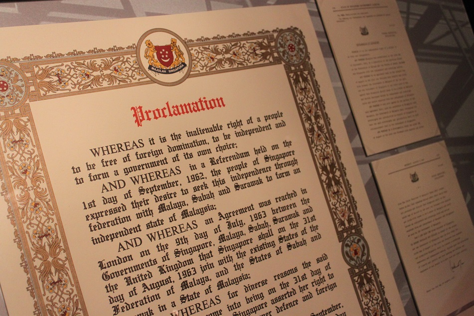 Proclamations of Joining (Left) and Leaving (Right) the Federation of Malaya