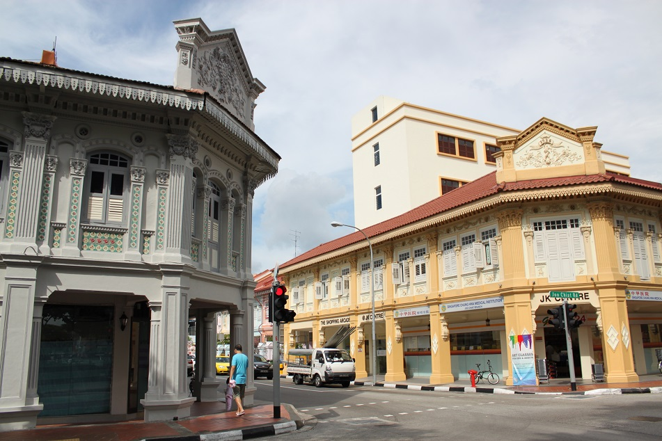 A Pretty Street Intersection at Joo Chiat