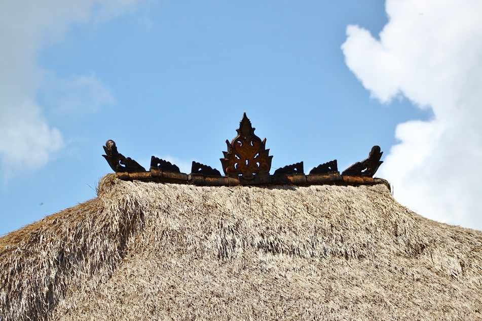 Hindu Ornaments Atop An Alang-Alang Roof