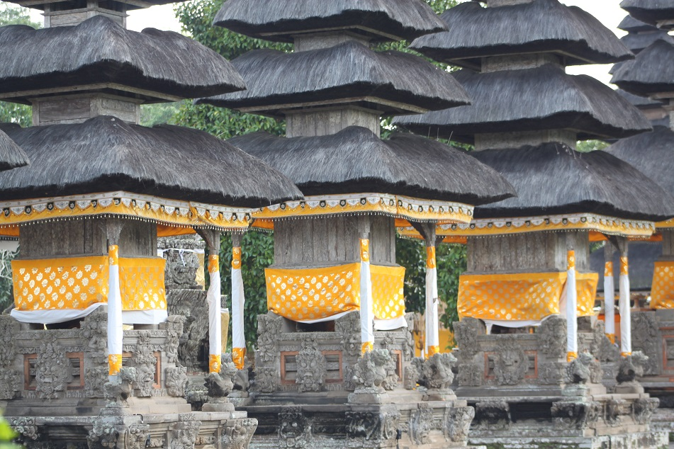 Meru Spires in Yellow Cloths