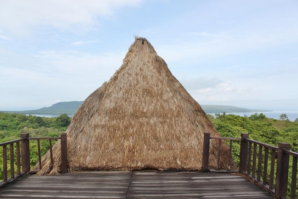 A Pyramidal Alang-Alang Roof