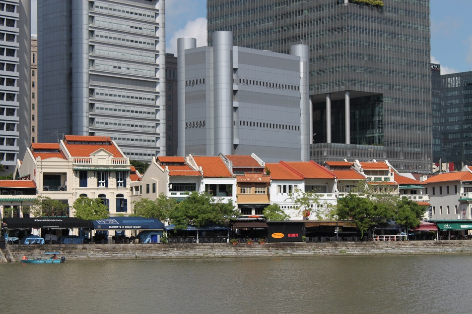 Old Shophouses along the Singapore River
