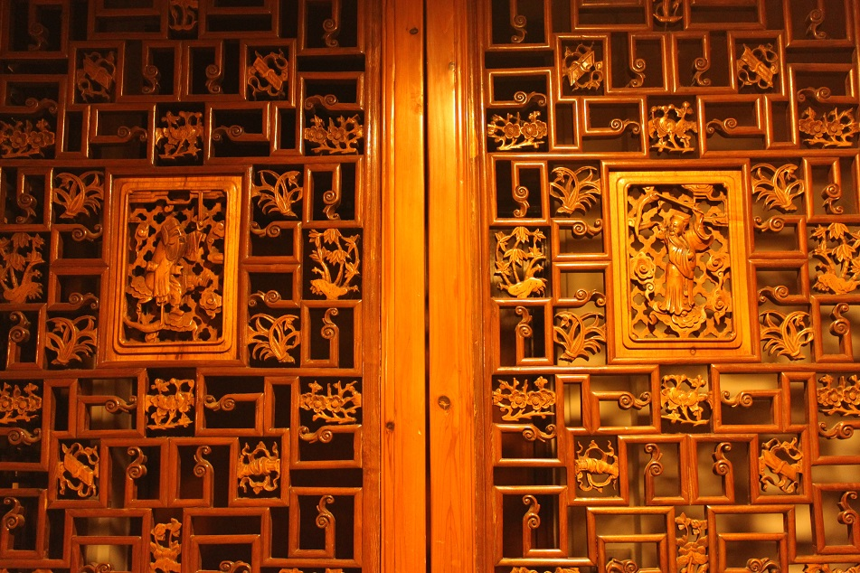 Ornately Decorated Wooden Panel at the University Museum and Art Gallery
