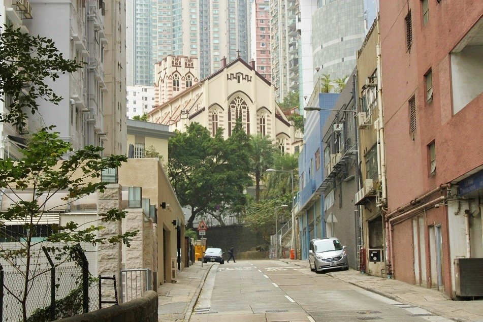 Hap Yat Church amid Hong Kong's Highrises