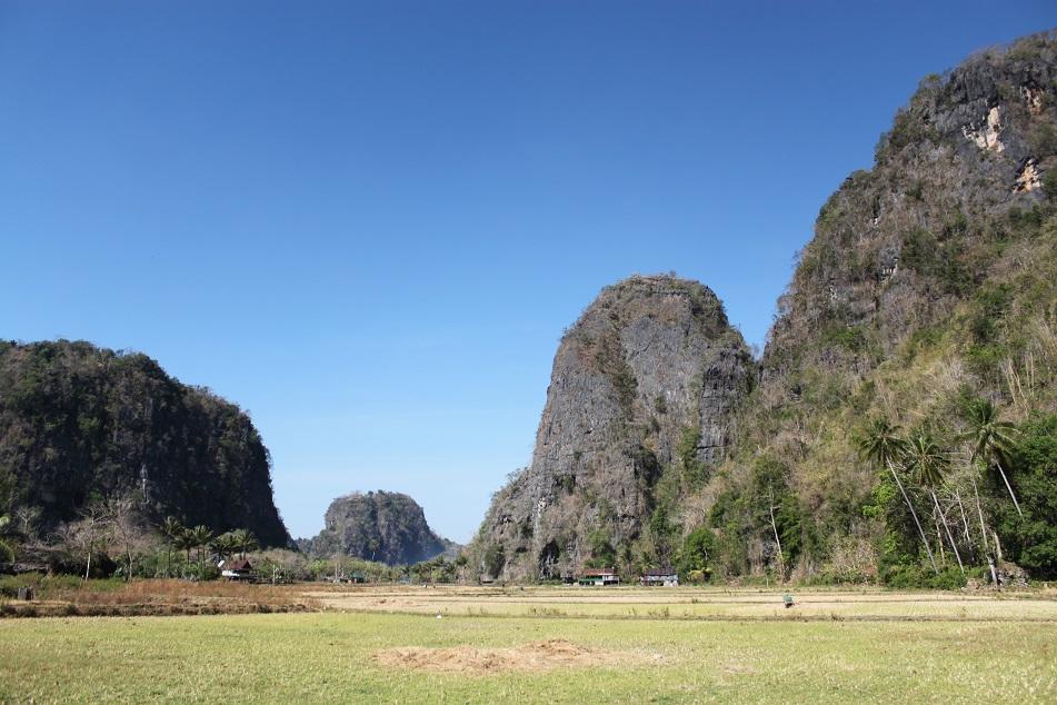 Karst Hills of Rammang-Rammang Near Makassar