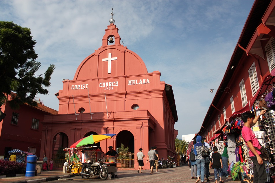 Malacca's Christ Church in the Dutch Square