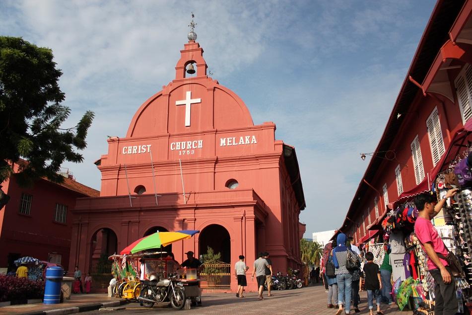 Malacca's Christ Church in the Dutch Square