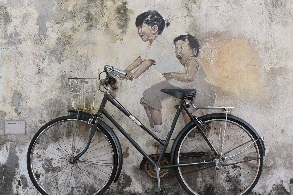 World-Famous 'Little Children on a Bicycle' Mural in Penang