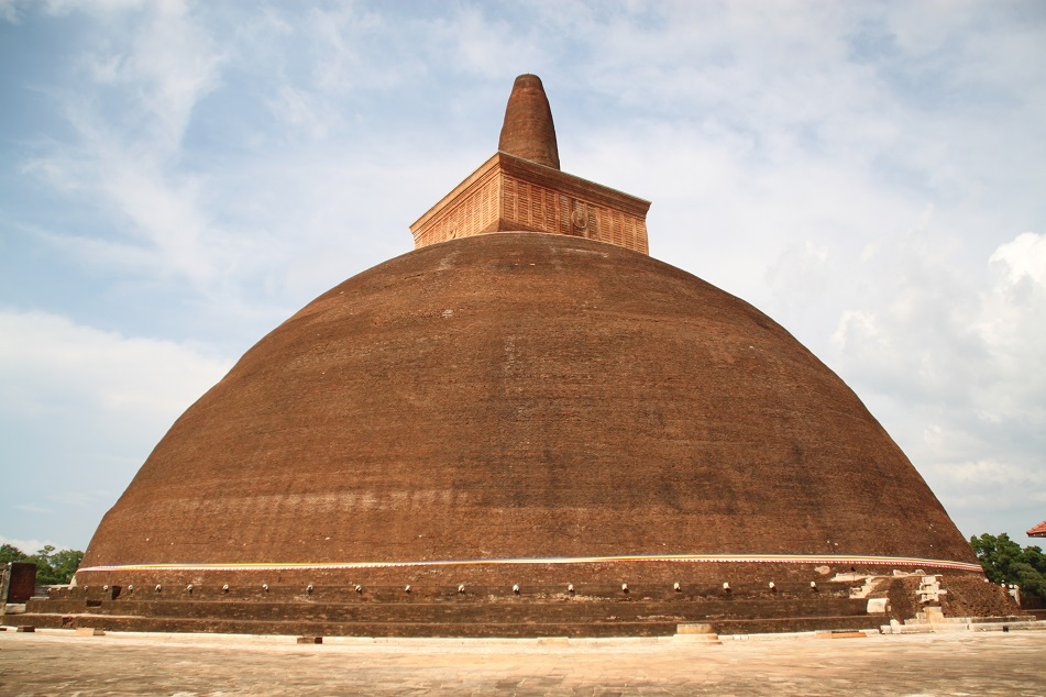 Abhayagiri Dagaba in Anuradhapura, Built with Almost 3 Million Bricks
